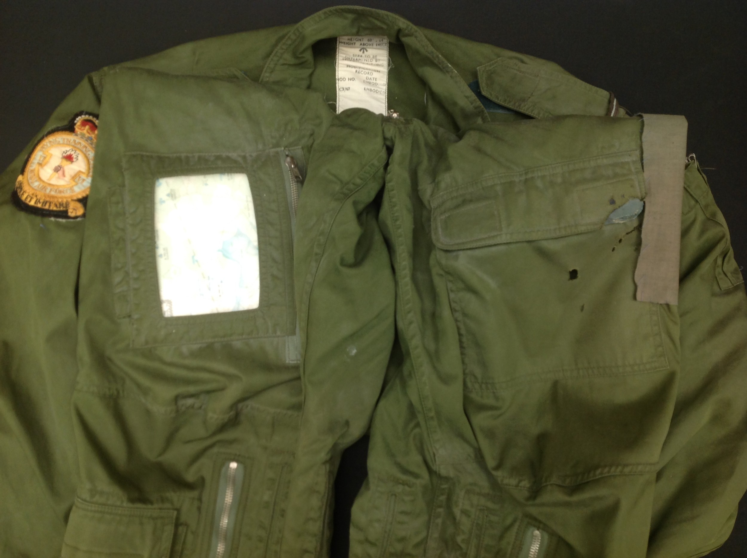 RAF Coverall, Flying MK 9, size 2. Complete with a 1985 map of the Low Countries in pocket and a - Image 5 of 8