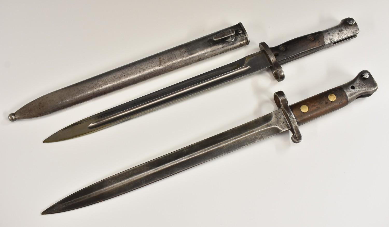 British 1888 pattern Lee-Metford bayonet by Wilkinson, London, 30.5cm blade marked 3 02, two-piece - Image 2 of 18