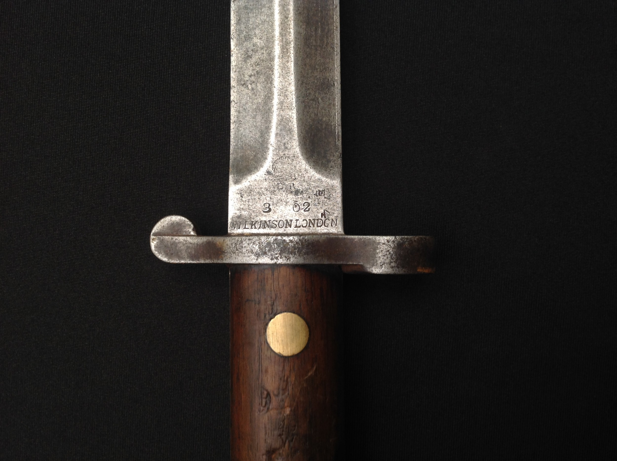 British 1888 pattern Lee-Metford bayonet by Wilkinson, London, 30.5cm blade marked 3 02, two-piece - Image 14 of 18