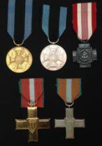 Polish Order Krzyza Grunwaldu, Order of Grunwald 1st class and Order of Grunwald 2nd class. Ribbon