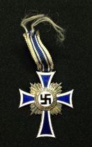 WW2 Third Reich Ehrenkreuz der Deutchen Mutter im Silber. Mothers Cross in Silver. Very short length