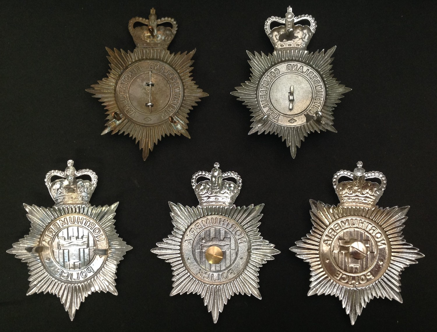 Queens Crown Northumberland Constabulary Night Plate: Queens Crown Northumberland Constabulary - Image 2 of 2