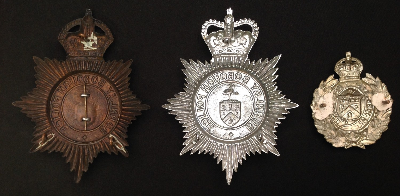Kings Crown Burnley Borough Police Night Plate: Queens Crown Burnley Borough Police Helmet Plate: - Image 2 of 2