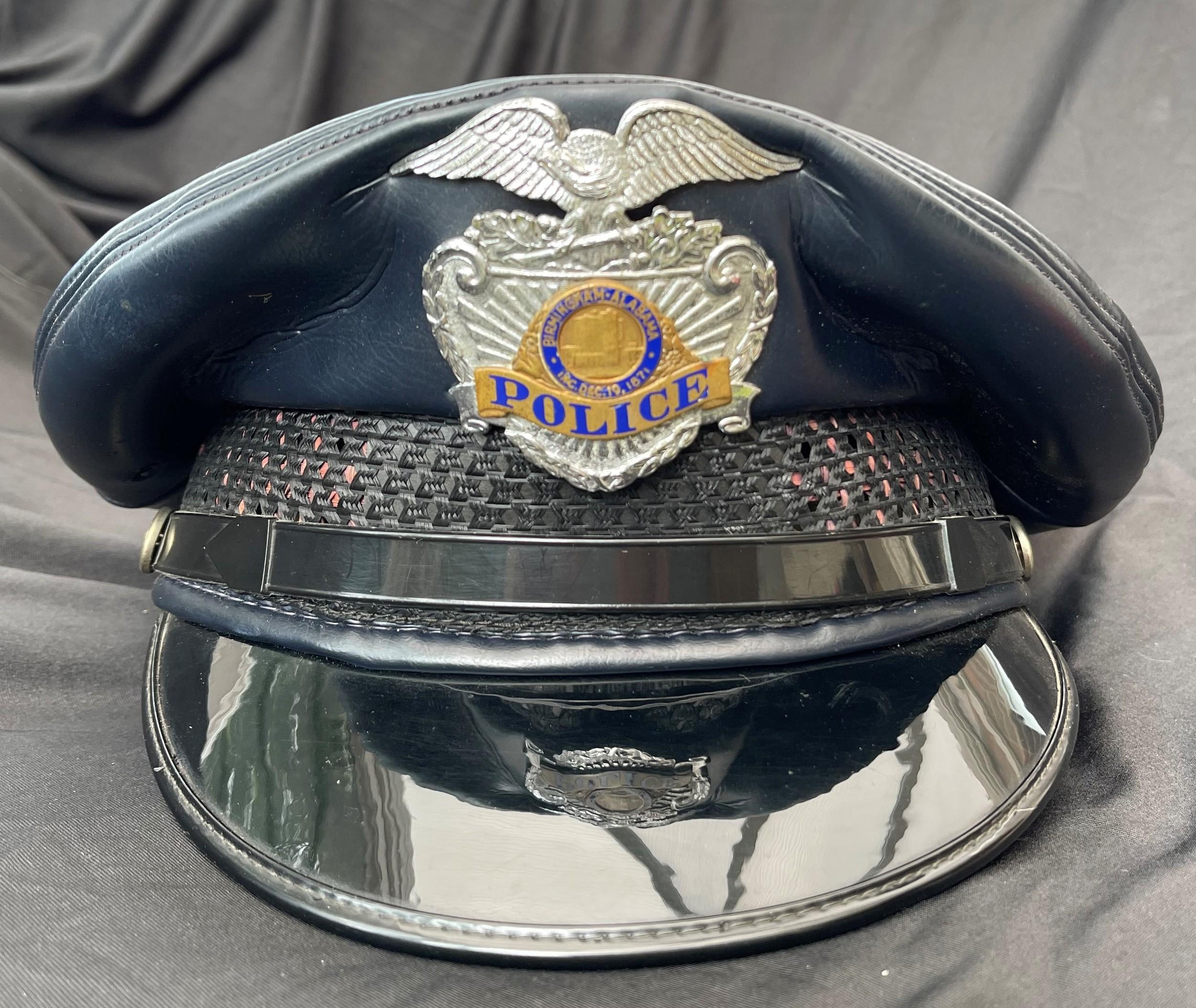 US Birmingham Alabama Police Department Officers Cap. Complete with enamel cap badge. Plastic