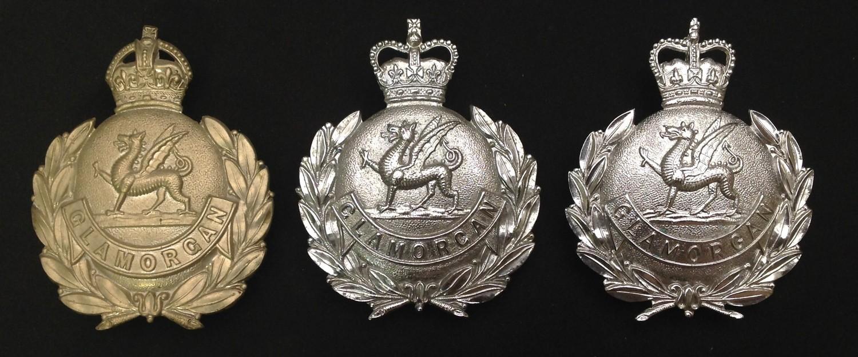 Kings Crown Glamorgan Police Helmet Plate: Queens Crown Glamorgan Police Helmet Plates x 2. Each