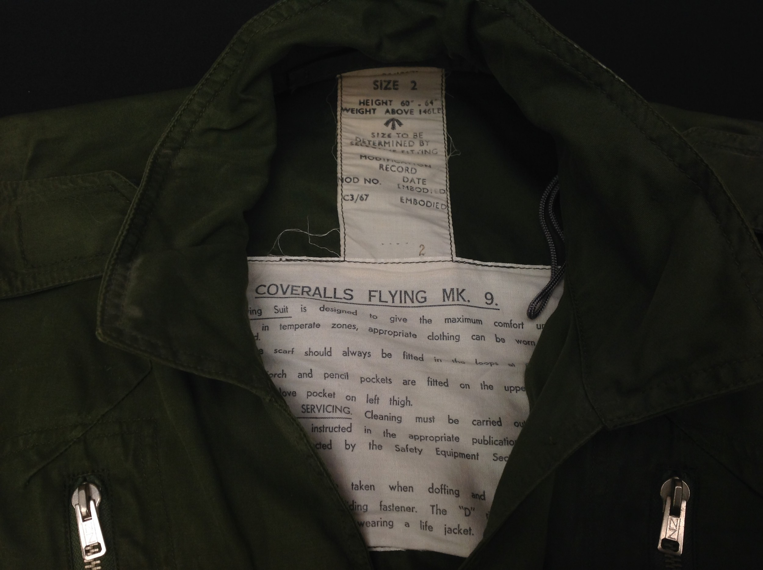 RAF Coverall, Flying MK 9, size 2. Complete with a 1985 map of the Low Countries in pocket and a - Image 2 of 8