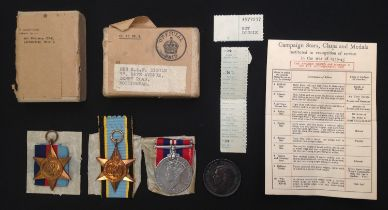 WW2 British RAF Bomber KIA medal group to Sergeant Frank Charles Diggle of Nottingham. Comprising of