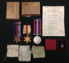 WW2 British Royal Navy Medal Group to Jx243944 George Walker comprising of 1939-45 Star, Africa Star