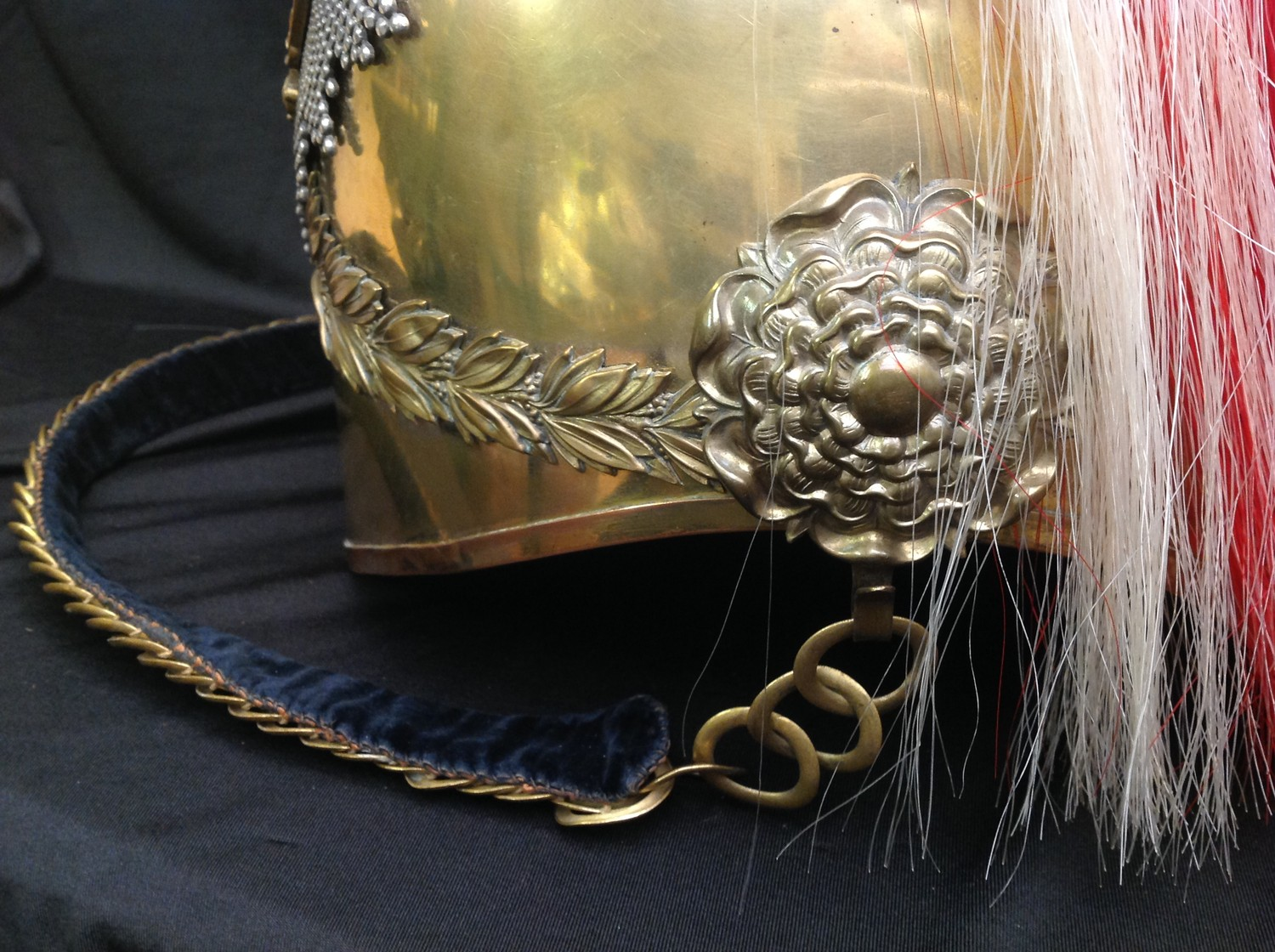 British Victorian 1871 Pattern Cavalry Helmet. Brass skull with 5th Princess Charlotte of Wales - Image 7 of 12