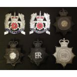 A collection of Hampshire Police/Constabulary helmet plates to include: King Crown Hampshire