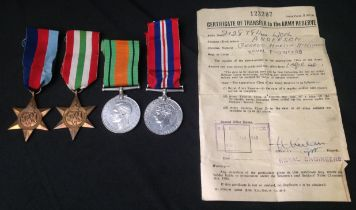 WW2 British Royal Engineers Medal Group consisting of 1939-45 Star, Defence Medal and War Medal