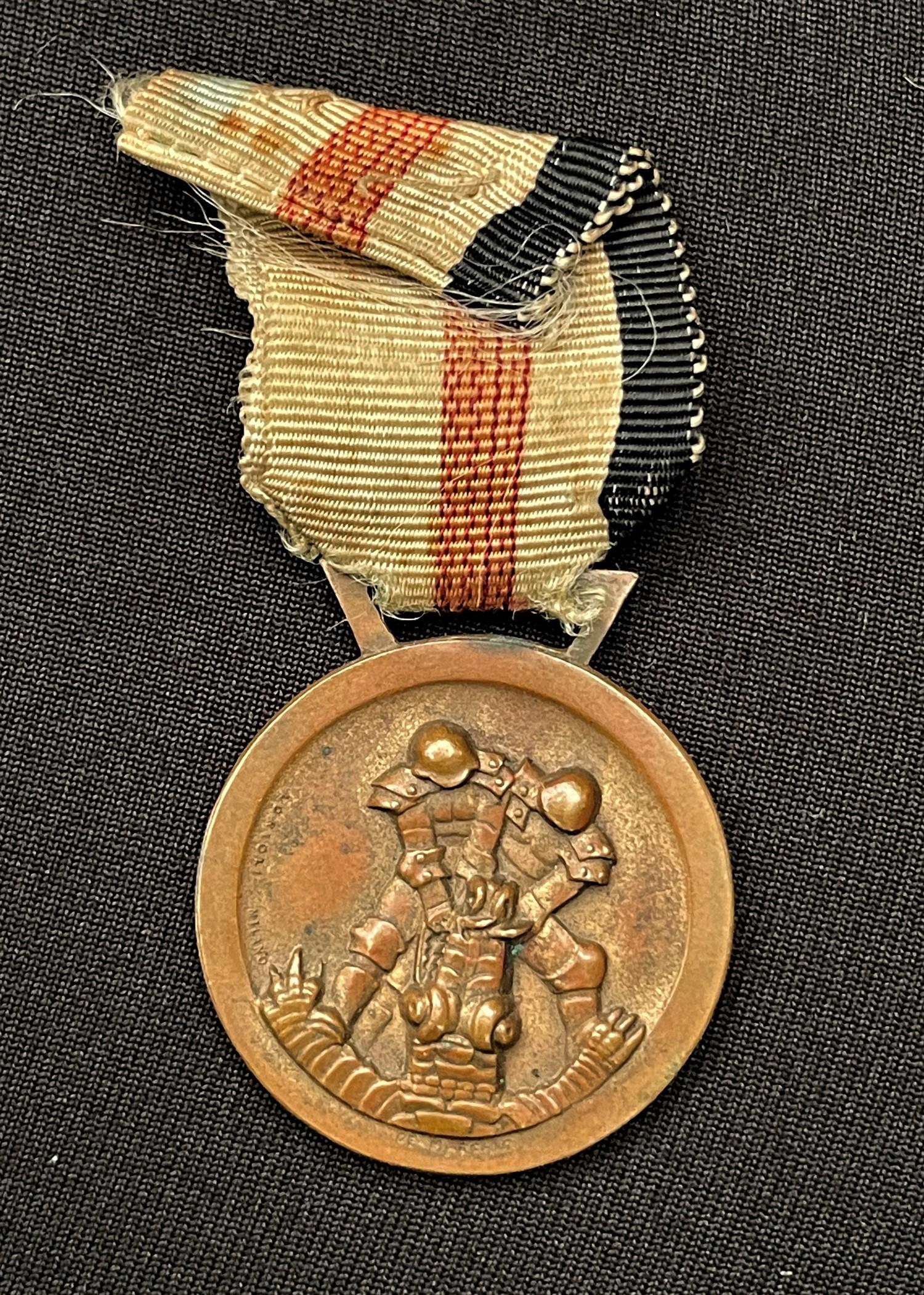 WW2 Third Reich Medaille für den Italiensch-Deutschen Feldzug in Afrika - Italian/German African - Image 2 of 2