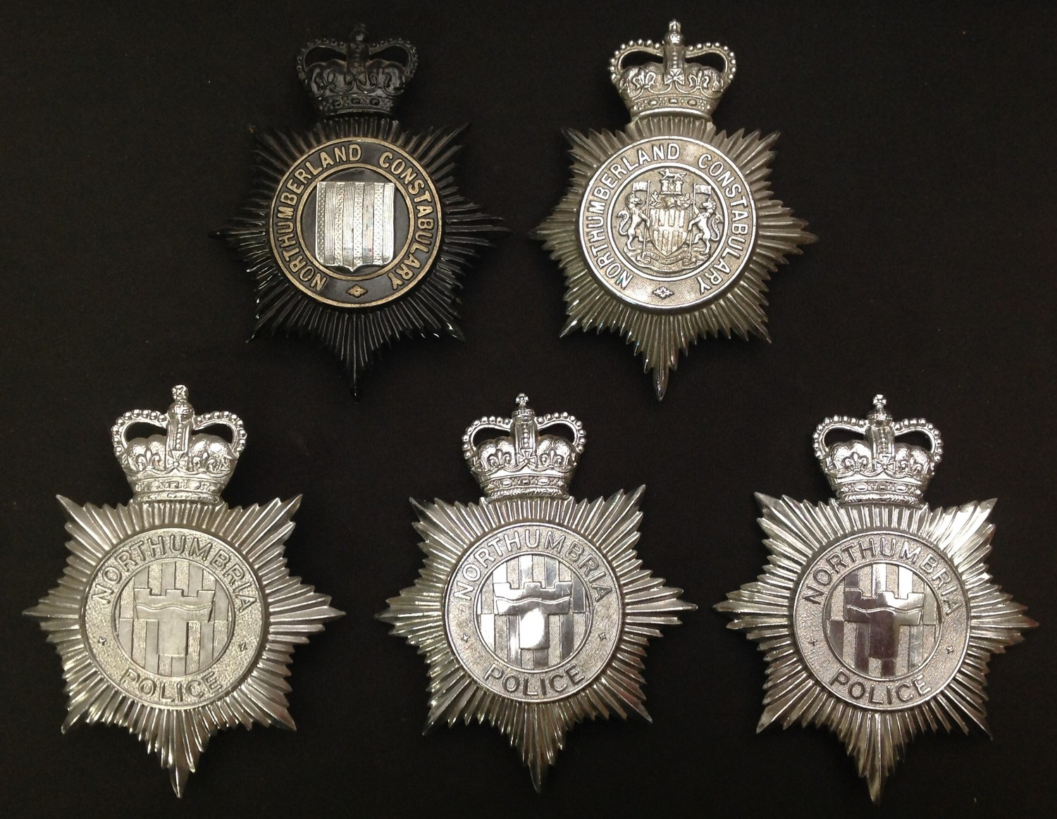 Queens Crown Northumberland Constabulary Night Plate: Queens Crown Northumberland Constabulary