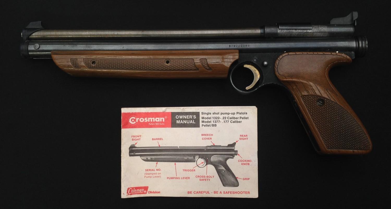 Crossman American Classic Model 1377 .177cal Pump Up Action Air Pistol. Serial number 878221688.