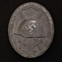 WW2 Third Reich Verwundetenabzeichen 1939 in Silber - Wound Badge 1939 in Silver. Maker marked L 24.