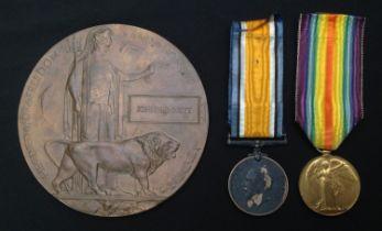 WW1 British Medal Group to 41066 Pte John Jennett, Yorkshire Light Infantry, comprising of Death