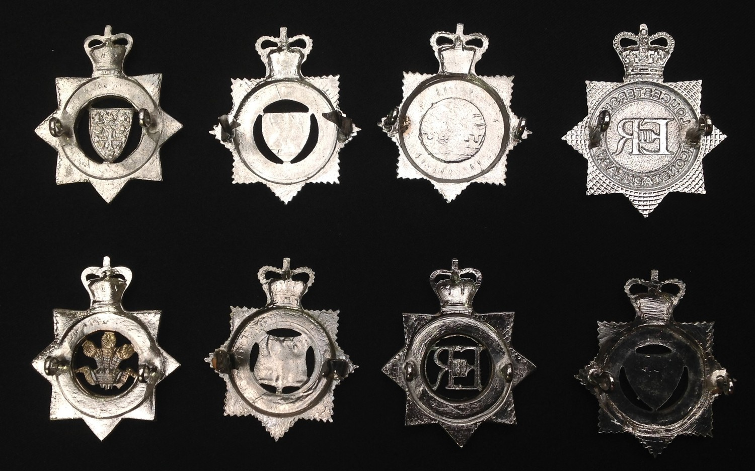 A collection of Queens Crown Police Officers enamelled cap badges: West Suffolk Constabulary: West - Image 2 of 2