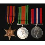 WW2 British Burma Star, Defence Medal and War Medal. All complete with original ribbons.