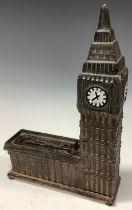 A novelty cast metal Big Ben money box, Bits and Pieces, 24cm high