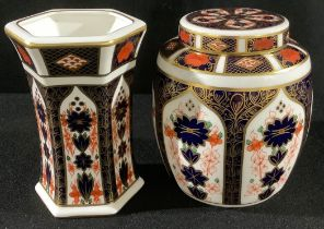 A Royal Crown Derby Imari 1128 pattern ginger jar and cover, first quality; an 1128 pattern
