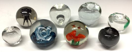 Glass Paperweights - Sankey, Wedgwood, Caithness; etc (8)