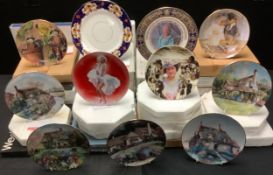 Collector's Plates - Franklin Mint, Bradford Exchange, Royal Albert, Danbury Mint, mostly boxed with