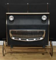 Retro Design - a kitsch home bar, as the front of a vintage car, perspex superstructure, the front
