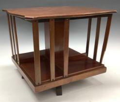 An Edwardian mahogany table top revolving bookcase, c.1905