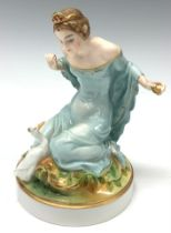 A Rosenthal figure, Princess and the Golden Goose, 14cm, printed marks