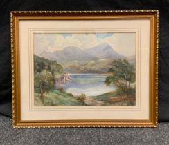 Michael Crawley (20th century) Lake Coniston signed, watercolour, labelled & dated 84 verso 26cm x