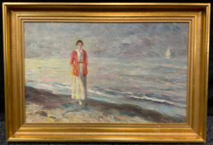 Impressionist School, (20th century), 'A Coastal Walk, and Distant Thoughts', indistinctly signed,