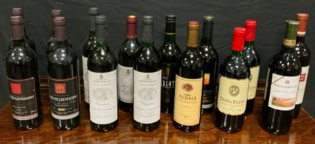 Wines and Spirits; A Selection of Red Wines, mostly 1990's, Cabernet Sauvignon, Californian,