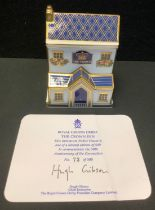 A Royal Crown Derby model, The Crown Inn, exclusive to Goviers, designed by Louise Adams, limited