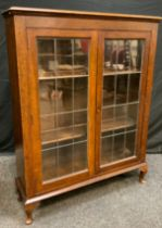 A 20th century oak display cabinet, rectangular top above a pair of astragal cupboard doors