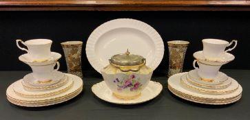 Ceramics - a Royal Albert Val D'or pattern tea set for four; George Jones jar etc.