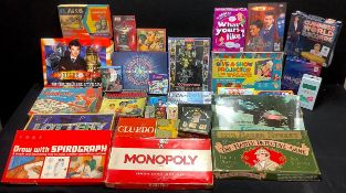 Toys - board games, 1960s and later, including Remote Control Driving Test, by Merit Toys; Chad