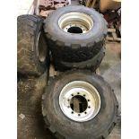 4 x Bandenmarkt 18 R 22.5 Wheels & Tyres, 10 Stud Commercial Axles