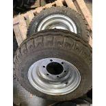 Pair New BKT 10/75-15.3 Wheels & Tyres, 6 Stud
