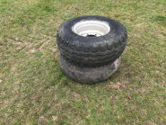 2 x 6 Stud Wheels & Tyres
