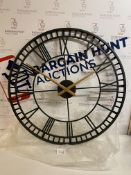 Skeleton Large Metal Wall Clock RRP £89