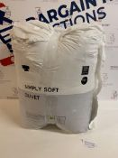 Simply Soft 13.5 Tog Duvet, Super King RRP £42.50