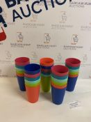 Set of 30 Kids Durable Plastic Cups