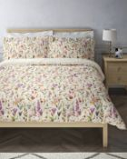 Pure Cotton Floral Sateen Bedding Set, King Size RRP £69