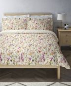 Pure Cotton Floral Sateen Bedding Set, Double RRP £59