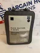 Duck Feather & Down Natural 13.5 Tog Duvet, Double RRP £49.50