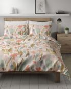 Pure Cotton Reversible Madeline Floral Bedding Set, Double RRP £39.50