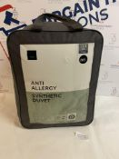 Anti Allergi Synthetic 13.5 Tog Duvet, Double RRP £65