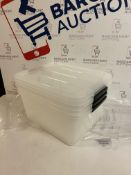 Iris Stack and Pull Storage Top Box, Set of 3 (missing 1 lid)