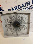 Sputnik Wall Clock RRP £35