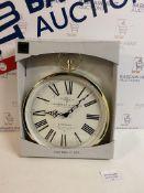 Gambrill & Perry London Quartz Fob Wall Clock, Gold RRP £35